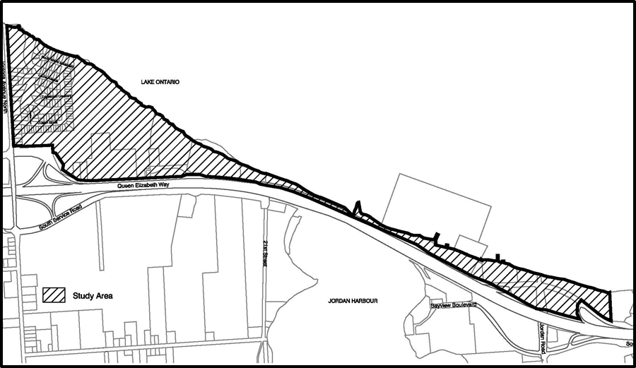 location map of study area for Prudhomme's secondary plan
