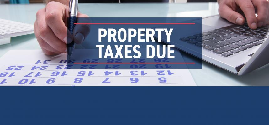 Property Taxes Due Banner