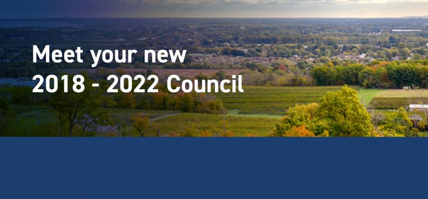 banner promoting the new 2018-22 Council