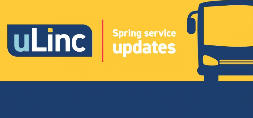 Promotional image for uLinc Spring service update.