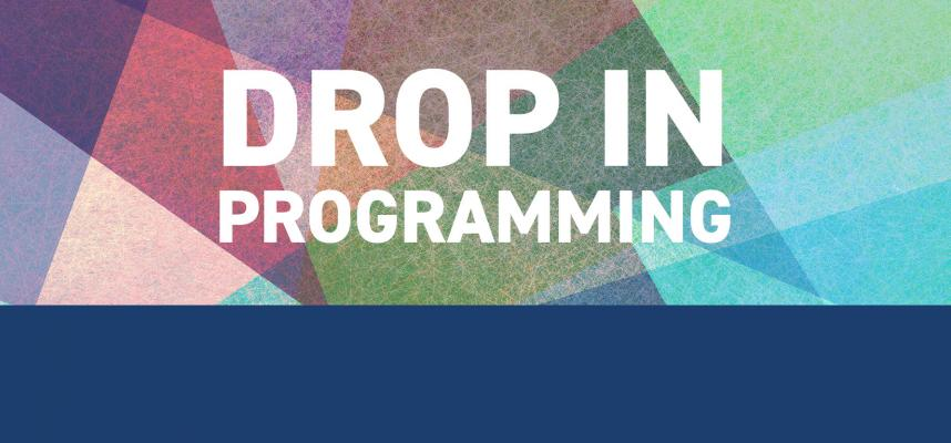 Banner promoting the drop in programs available at the Town