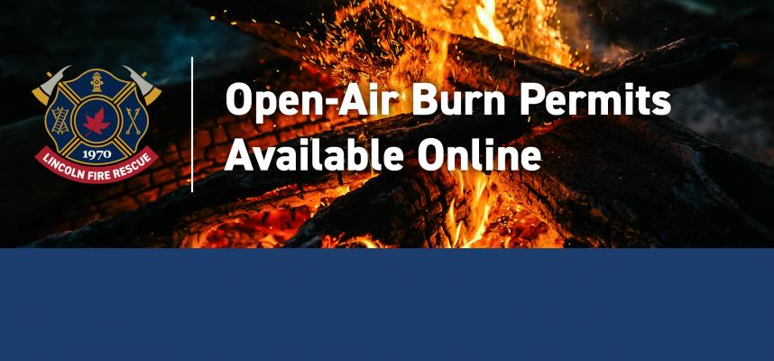 Web Banner promoting new online portal for open-air burn permits