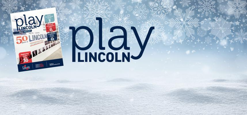 web banner featuring photo of the cover of Play Lincoln
