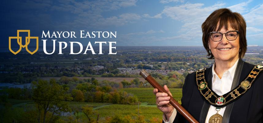 Image of Mayor Easton with Lincoln in the backhround