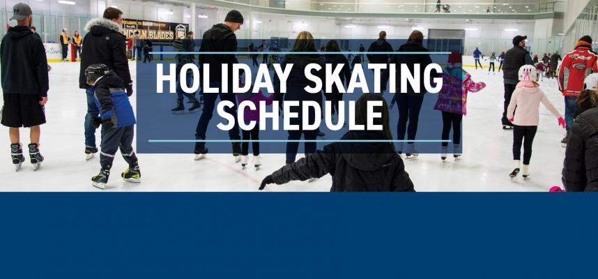 Holiday Skating Schedule Advertisement