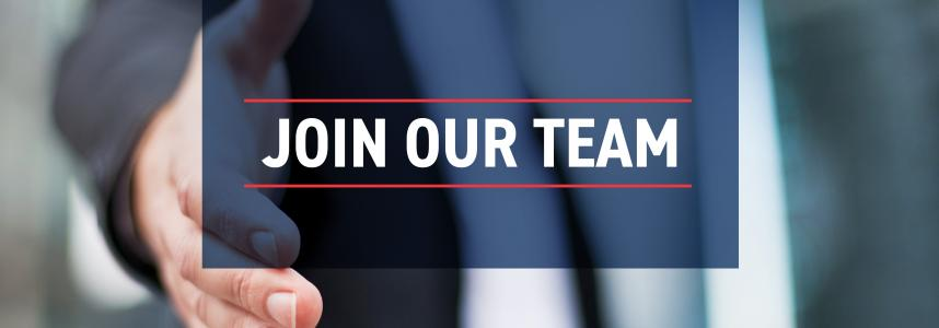 "Image of a business person shaking hands with overlay text that says ""Join Our Team"""