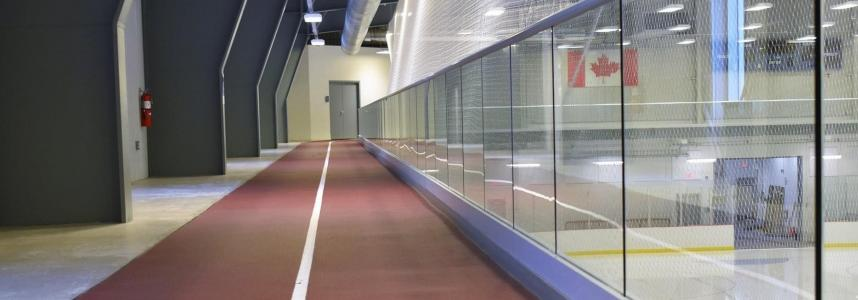 Indoor walking track in the Fleming Centre