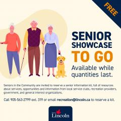 An advertisement for the Seniors Showcase to go information and resource kit